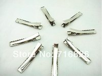 Wholesale Jewelry Findings Wholesale Prong - Wholesale-450pcs lot Wholesale New Prong Barrettes & Brooch Clips Finding, Alligator clips, Crocodile Clips 40mm Fit Jewelry DIY
