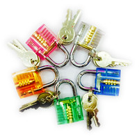 Wholesale HOT Sale Colorful Transparent Mini Crystal Padlock For Beginner Practice Tools SYG