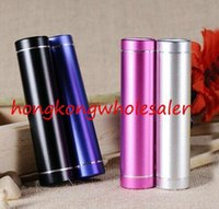 Wholesale Cell Phone Chargers Portable Sales - factory sale power bank charger 2600 mAh with aluminum alloy cylindrial shape outshell portable external battery for cell phones