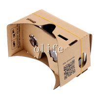 iphone de los vidrios 3d de la cartulina al por mayor-Nuevo bricolaje Google Cartón VR Teléfono Realidad virtual 3D Gafas de visualización para Iphone 6 6S más Samsung S6 edge S5 Nexus 6 Android