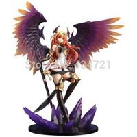 Wholesale Kotobukiya Figure - Hot Pop Game Anime Kotobukiya Rage Of Bahamut Dark Angel Olivia Ani Statue 29CM PVC Action Figure Toy New Loose