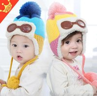Wholesale Cute Girl 15 Age - Baby Kids Wollen Caps For best selling Winter New Arrival Cute Girls Hats Korean Style Boys Caps Fit 1-5 Age 15 Pcs lot