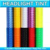 4D Car Headlight Vinyl Wrap 3D Nevoeiro Tail Light Tint Cat Eye Light Film Sticker HeadLamp Protector Decal Sheet 0.3x10m 1x33Ft