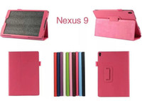 Para Google Nexus 9 Lichee Grain Folding Folio Funda de cuero PU Funda para Google nexus 9 Google 9 8.9