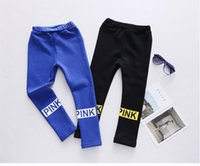 Compra Ragazzi Pantaloni Neri Skinny-blu Rosa new fashion boys Ragazze Skinny Long Pants Nero KidsKids Pantaloni elastici Bottoms Leggings decorazione christamas