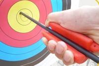 siyah okçuluk okları toptan satış-Okçuluk Yay Için yüksek Kalite Ok Çektirme Açık Avcılık Çekim Spor Turuncu Yeşil Siyah