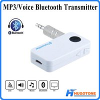 Wholesale Car Adapter For Tv - Car Bluetooth Transmitter 8 Hours Li-battery 3.5mm Stereo Audio Music A2DP&AVRCP Bluetooth Receiver Adapter For TV DVD MP3