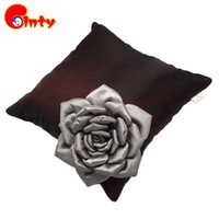 All'ingrosso-New Vintage 3D Flower Cushion 36 * 36cm Creativo Fiore Cuscino High-end PP Cotone Ripiene Piante peluche Giocattoli Soft Rose Cuscino