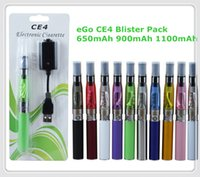 Wholesale Mah Ego Electronic Cigarettes Blister - eGo Blister kit electronic cigarette starter kits with CE4 atomizer and 650 900 1100 mAh ego t battery Various colors DHL