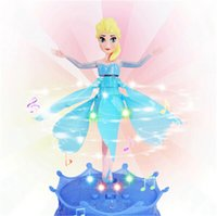 Wholesale Music Theme Gifts - Flying Frozen Princess Elsa Doll Infrared Induction Control With Light &Theme music 2014 New Hot sell Gift Toys Free Shipping