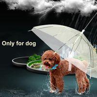 Wholesale Small Plastic Gears - Useful Transparent PE Pet Umbrella Small Dog Umbrella Rain Gear Keeps Pet Dry Comfortable in Rain Snowing