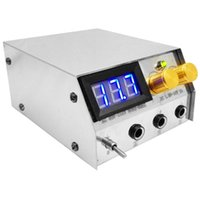 Wholesale Dual Output Tattoo Power Supply - Wholesale-2015 Hot sale 100v-240v input dc 20v output LCD display digital stainless steel dual Tattoo machine Power Supply