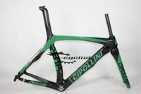 bicicleta de fibra de carbono preta fosca venda por atacado-Cheap Cipollini RB1K Carbono Bicicleta FRAME Fibra de Carbono total de Ciclismo de Estrada de bicicleta Preto Verde Glod Diferentes Estilos Glossy acabamento mate