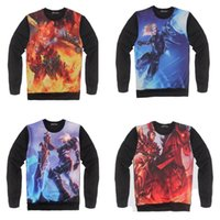 LOL 3D-Sweatshirt Männer Superheld Lustige Pullover Langarm-Sport Hoodies Superstar Yasuo Volibear der Monkey King EZ Riven New