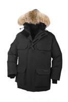 Wholesale Mens Winter Down Coats Sale - 2016 hot sale Men's down jacket Coat Fur Expedition parka Winter thick cotton padded jacket cotton mens jacket white collar cap Nagymaros