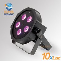 Wholesale American Dj Uv - Wholesale-10X LOT New Arrival ADJ 5*18W 6in1 RGBAW+UV Mega Quadpar Profile LED Par Light , DMX Par Can,American DJ Light For Event Party