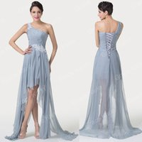 Wholesale Sexy Dress Ballgown - Grace Karin New Lady One Shoulder Brides Bridesmaid Evening Party Formal Prom Ballgown Dress 8 Size US 2~16 CL6242