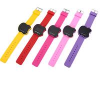 Wholesale Apple Quartz - New Fashion dress watch rubber LED watch touch screen apple silicione gel sports quartz watches gift men brand ladies watch DHL Free 500pcs