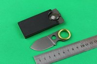 "Wholesale Mini Utility Knives - New Arrival GB GDC Money Clip Fixed Blade Knife 3.6"" Outdoor Camping Mini Utility Hiking rescue survival knife multifunctional knife knives"