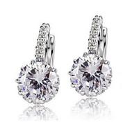 Wholesale Swarovski Crystal Earings - Stud Earrings For Women Bride Wedding Earrings Fashion Jewelry Brincos White Gemstone Earring Antique Bijuterias Swarovski Crystal Earings