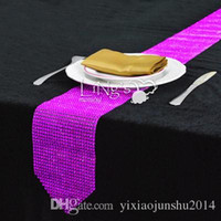 crystal red pink purple gold silver blue 12 x 275cm extra long red table runners 12