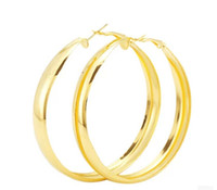 NEW FAB GOLDTONE HOOPS OHR KREOLISCHES BLING LARGE GLÄNZENDEN CHUNKY CHIC FASHION
