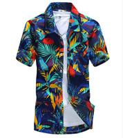 Wholesale Imported Shirts - Wholesale-Summer Style Plus Size Plaid Shirts Hawaiian Shirt Imported Clothing Men Shirt Camisa Masculina Beach Short Sleeve Causal -658
