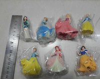 Wholesale Cinderella Belle Figure - cinderella figure set girls cinderella doll pvc Princess Snow White Belle Action Figure Dolls Toys cinderella 50pcs free shipping in stock