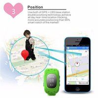Wholesale Gps Tracker Bracelets - 2015 Q50 GPS Tracker Watch For Kids SOS Emergency Anti Lost GSM Smart Mobile Phone App Bracelet Wristband with Locate Remote Monitor