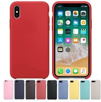 Wholesale Protection Shock - Liquid Silicone Rubber Case Anti-shock Protection Cases Shell Cover Case for Iphone 6 6s 6plus 7 7plus 8 8plus x