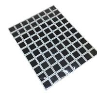 Wholesale Loose Square Gems - 80Pcs Plastic Square Loose Diamond Display Package Box White Gem Case Black Memory Foam Pad Beads Pendant Diamond Box Showcase 3*3*2 cm