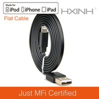 Wholesale Iphone Charger Flat Cable - MFI Certified Lightning 8P to USB Sync & Charger Flat Cable, for iPhone 5 5s 5c 6 plus, iPad 4 Air Mini