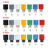 Wholesale Cool E Cig Drip Tips - Cool design 510 Wide Bore Drip Tip Stainless Steel Brass Plastic & Teflon drip tips fit for rda ego 510 atomizer vivi nova dct e cig tank