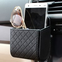 Wholesale Cell Phone Storage Boxes - Car outlet cell phone pocket debris bags car decoration supplies high-end cars with storage items box kits