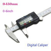 Wholesale Digital Coating Thickness - 0.01-150mm Micrometer Guage Vernier Calipers Metal Alloy LCD Display Electronic Millimeter Paint Coating Thickness Meter Digital Caliper