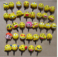 Wholesale Kawaii Phone Plugs - ks kawaii cartoon animal expression Anti dust plug for cell phone iphone xiaomi htc kpop cute anime headphones cap wholesale free shipping