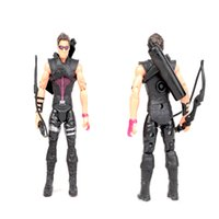 Wholesale Cool Action Movies - Free shipping Cool Marvel Movie The Avengers Figure Hawkeye PVC Toy Doll Kid Gift Light Action Figure Model Toy