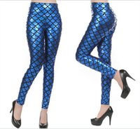 Wholesale Black Milk Mermaid - NEW fashion top sale Black Milk digital print women Mermaid Leggings free shipping