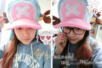 Wholesale Tony Chopper Cosplay Costume - Wholesale-Anime One piece cosplay tony tony chopper plush hat warm and cute cosplay hat free ship