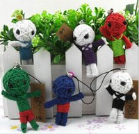 Collection De Jouets En Gros Pas Cher-2016 Nouveaux jouets Handcraft Voodoo Doll Toy With Strap As Mobile Pendant, Keychain jouets chiffres fashion toys Vente en gros 50pcs / lot