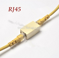 Wholesale Rj45 Order - (100pcs lot) RJ45 Network cable connector cable extension Adapter Ethernet Plug Network through head order<$18no track