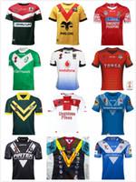 Wholesale Australia Army - 2017 World Cup NRL Jersey 2018 Ireland New Zealand kiwi tonga lebanon Papua New Guinea rugby Jersey samoa kiwis England Fiji Australia shirt