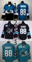 Wholesale 48 Sharks Jersey - sharks #88 brent burns 2015 Ice Winter Jersey Cheap Hockey Jerseys Authentic Stitched Free Shipping Size 48-56