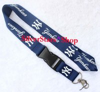 Wholesale Yankees Girl - Wholesale & Retail New (New York Yankees ) MLB Baseball Series neck Lanyard ID Holder for party Key Detachable Keychain iPod Camera Strap