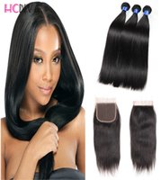 7A Hot Selling Unprocessed Mink Brazilian Virgin cabelo humano Laço encerramento 3 pacotes cabelo humano Weave Wet and Weave Dyeable Cheap Wholesale