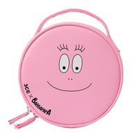 2017 Barbapapa Cartoon Cute Girls Pink Lovely Cosmetic Bags Cases Viagem Toiletry Bag Storage Organizador Bag Fashion Maquiagem Bag