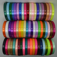 Wholesale Ruban Satin - Grosgrain Ribbon Polyester Satin Ruban 12mm 1.2 cm 1 2 Inch Wedding Handcraft Gift Wrapping Decoration 150 yards 6 rolls - 5