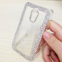 Wholesale Cheap Clear Cell Phone Cases - Slim Clear Phone Cases With Crystal Decoration Best Protective Cases For Nokia Lumia 620 Cheap Cell Phone Accessories P-128