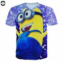 Wholesale Despicable Minions Tshirt - Wholesale-OPCOLV 2016 fashion women men harajuku graphic 3d tshirt print cowboy Minions t-shirt funny casual Despicable Me 3d t shirt