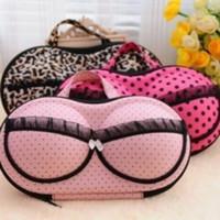 Wholesale Eva Bra Bag - Bra Storage Bags Double Sphere Shape Anti Pressure Finishing Bag Portable EVA Cotton Large Size Pouch Hot Sale 9bc B